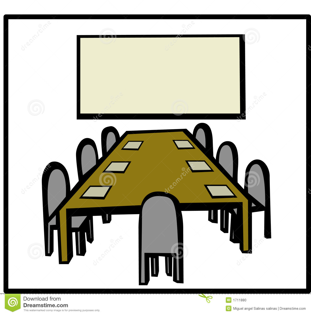 Conference Room Meeting Clipart.