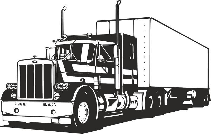 Truck Silhouette Vector Free Vector cdr Download.