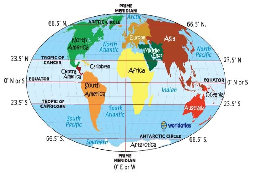 Similiar World Map With Equator And Prime Meridian Keywords.