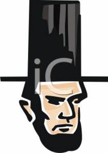 Clipart of Abraham Lincoln.