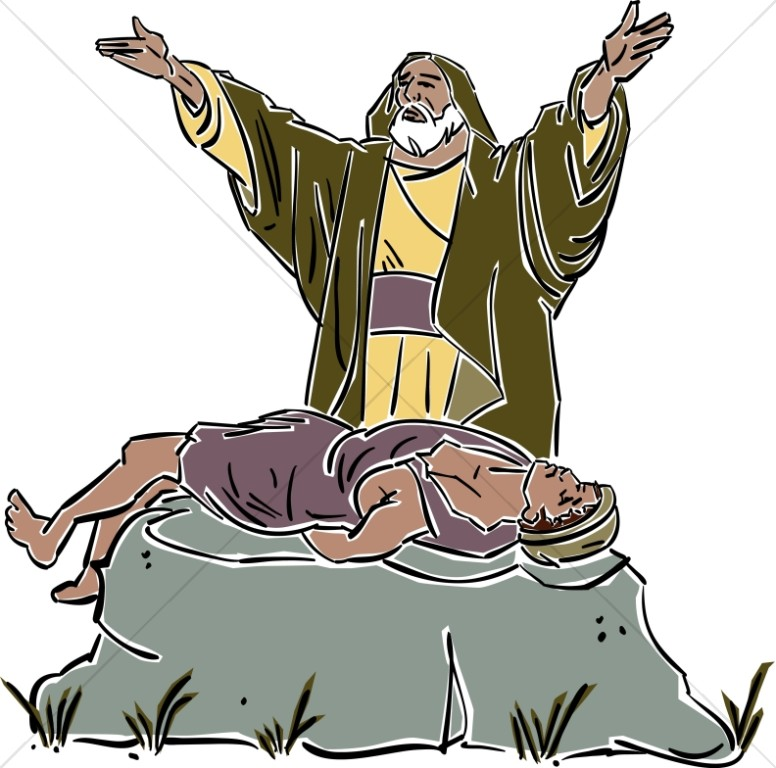 Abraham Sacrifices Isaac on the Mount.