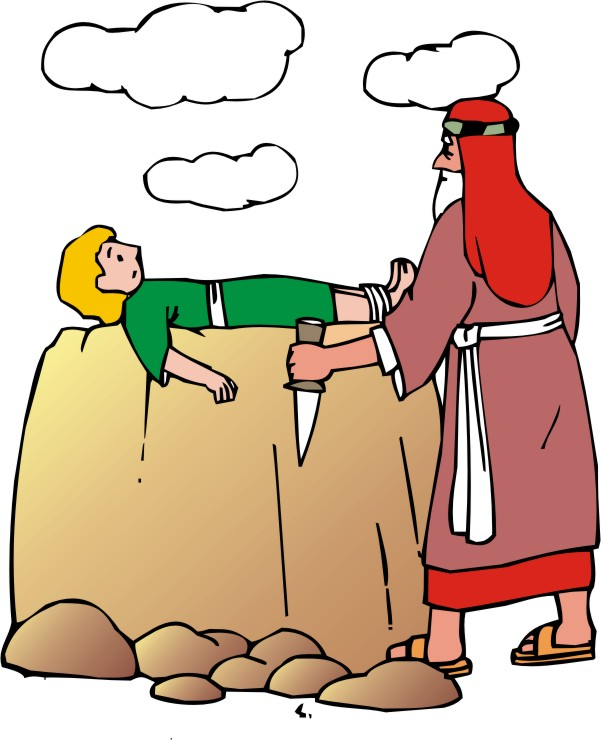 Clipart Abraham and Isaac 1.