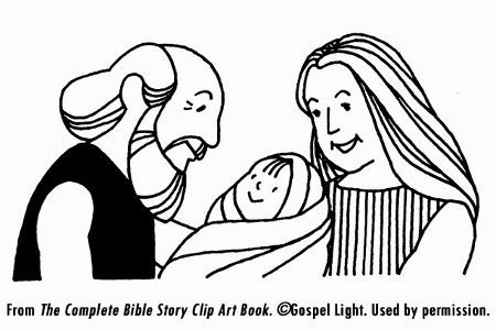 sarah and abraham laughing clipart.