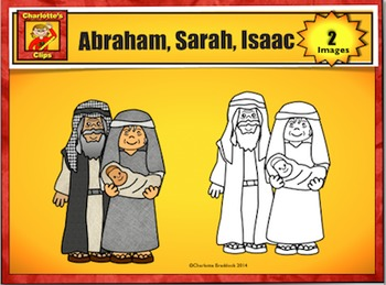 Free Abraham, Sarah, and Isaac Clip Art Sample by Charlotte\'s Clips.
