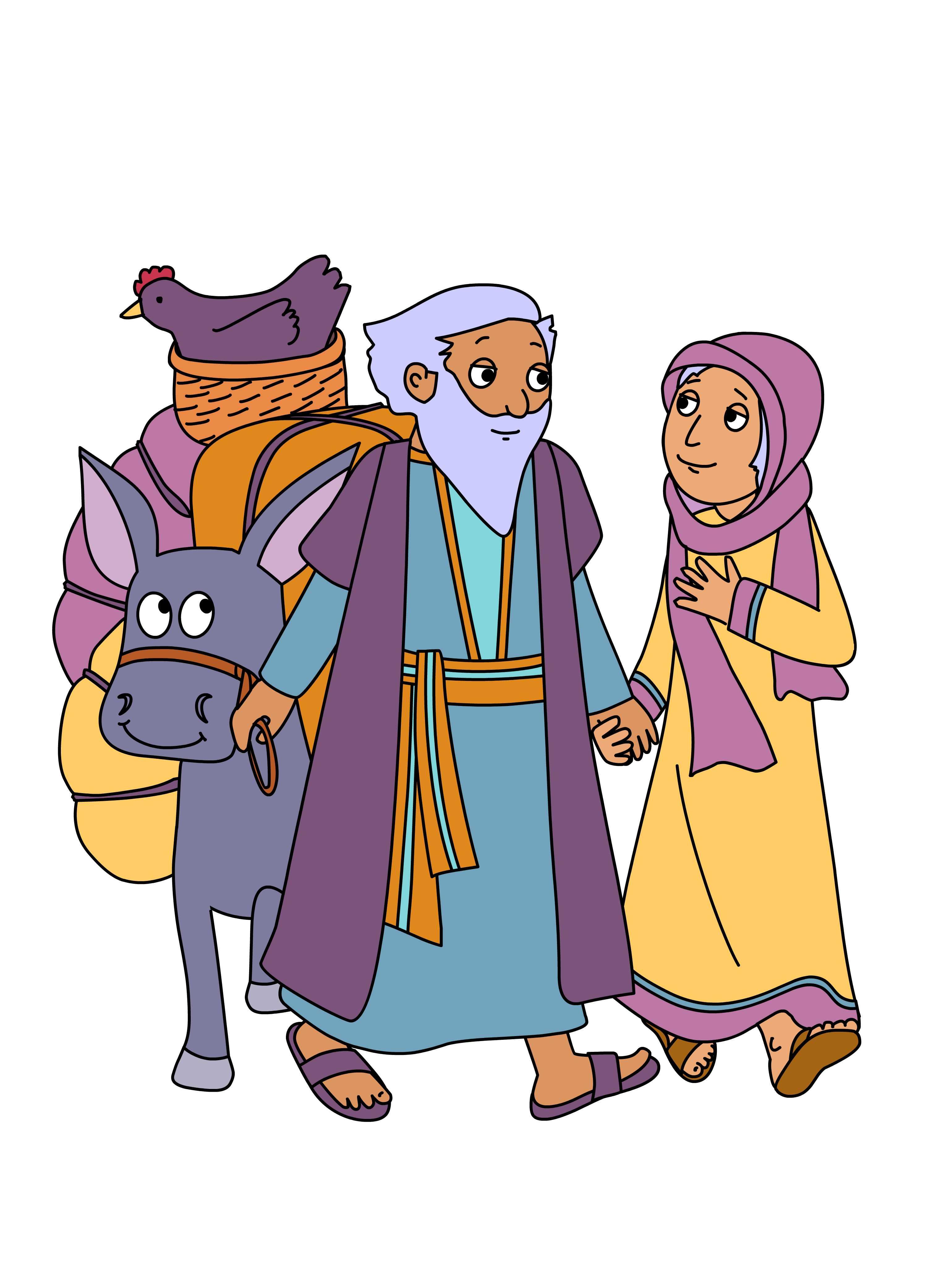 Abraham And Sarah Bible Clip Art N2 free image.