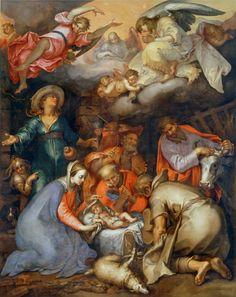 Abraham Bloemaert Adoration of the Magi, painting Authorized.