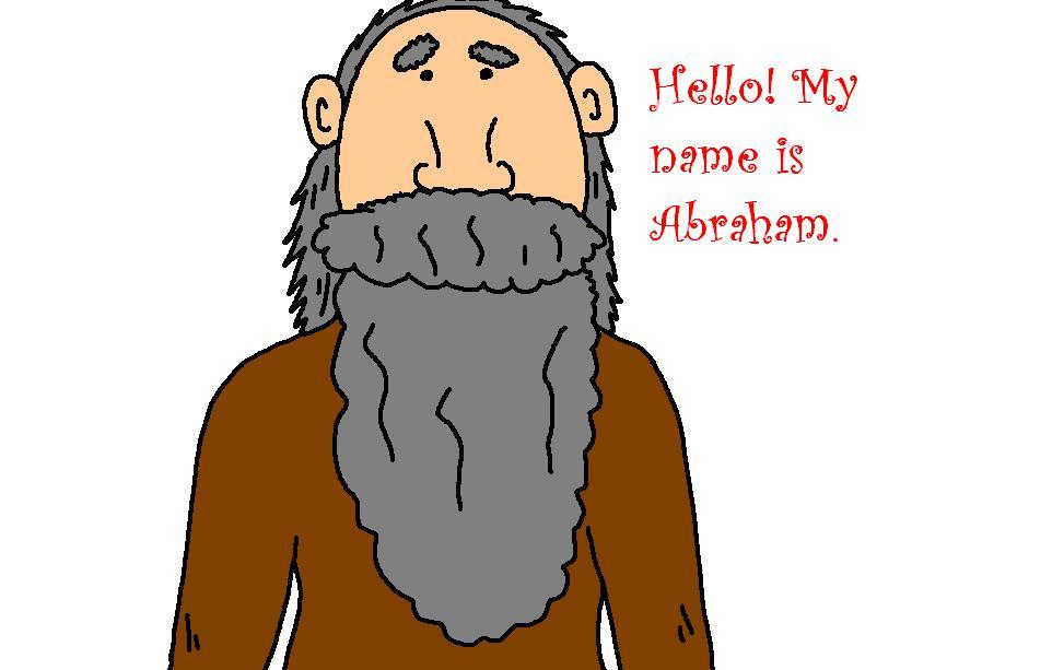Abraham face bible clipart no background.