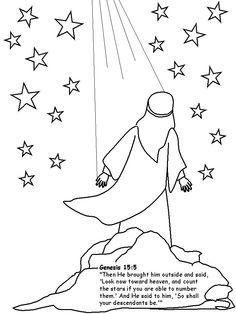 abraham looking up at stars clip art.