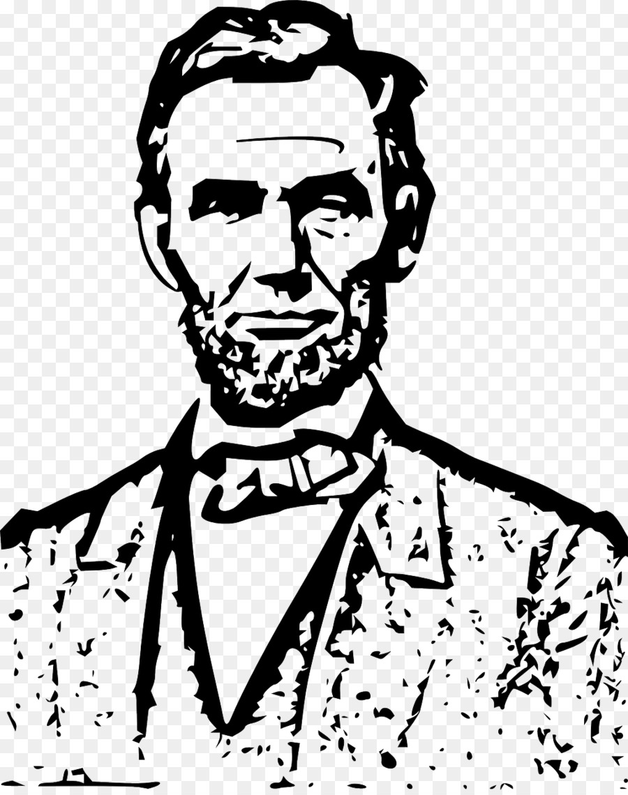 Abraham lincoln clipart line, Abraham lincoln line.