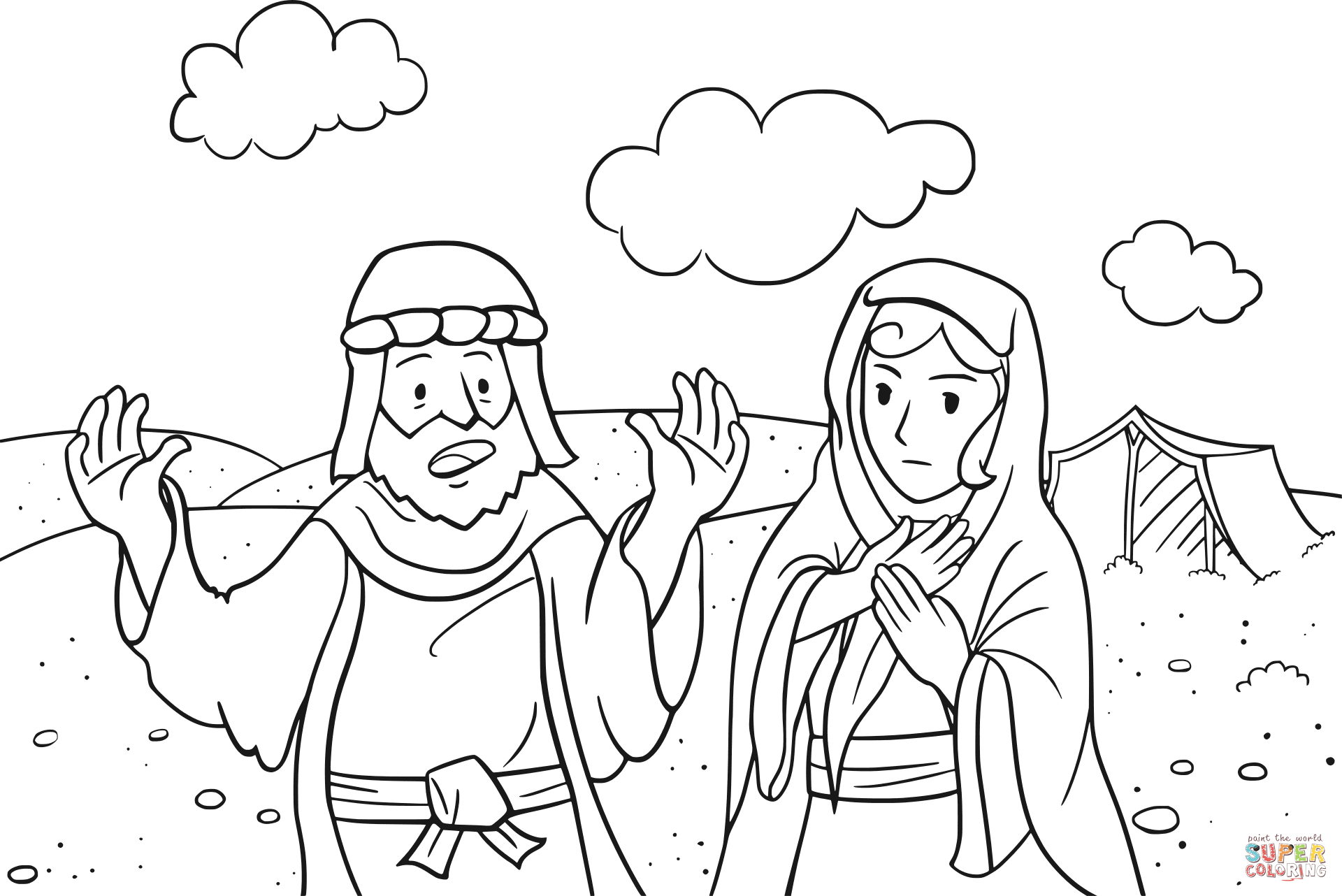 Abram is Called by God coloring page.