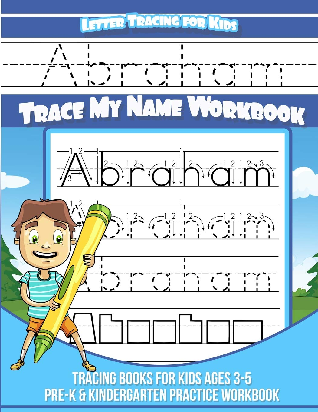 Abraham Letter Tracing for Kids Trace my Name Workbook.