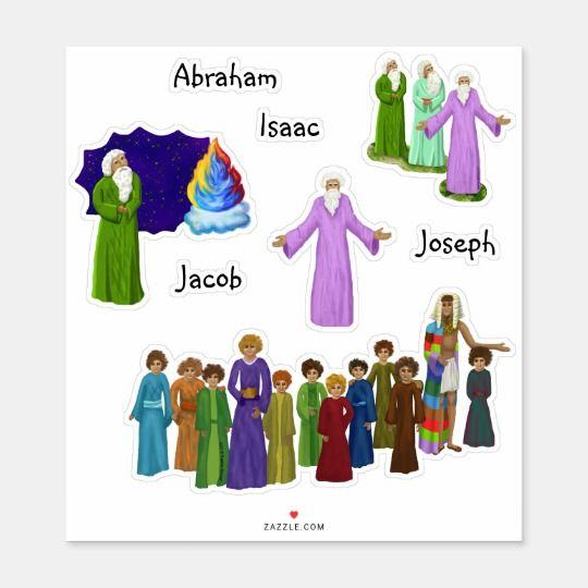 Abraham Isaac Jacob Twelve Sons Monogrammed Sticker.