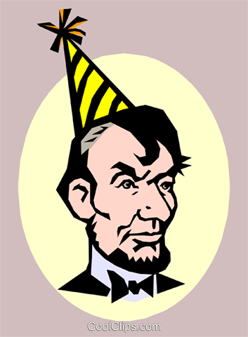 Abraham Lincoln\'s Birthday Royalty Free Vector Clip Art.