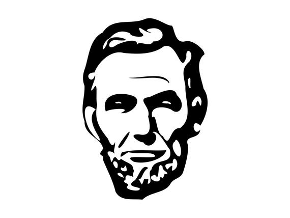 Lincoln Head Svg Abraham Silhouette Cutting File Clipart SVG DXF jpg png  psd Photoshop Element Vector.