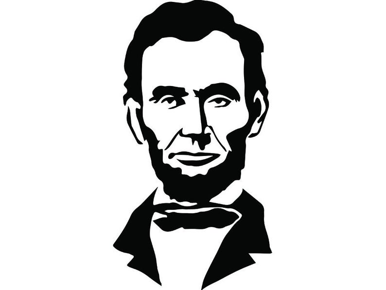 Abraham Lincoln #2 President Famous American History Statue School  Education Student Logo .SVG .EPS .PNG Clipart Vector Cricut Cut Cutting.