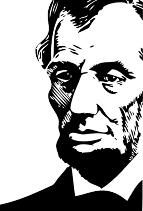 Abraham Lincoln clip art Free Vector.