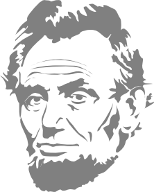 Abe Lincoln Art Coloring Book Colouring Sheet Page Black White.