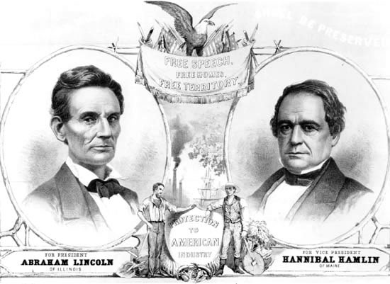 Election Of 1860 Clipart.