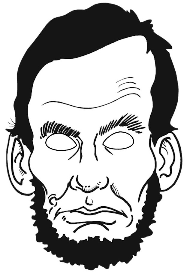 Abraham lincoln clipart face, Abraham lincoln face.