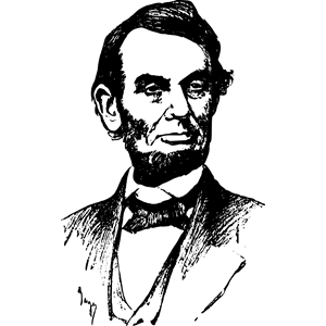 Abraham Lincoln Face clipart, cliparts of Abraham Lincoln.
