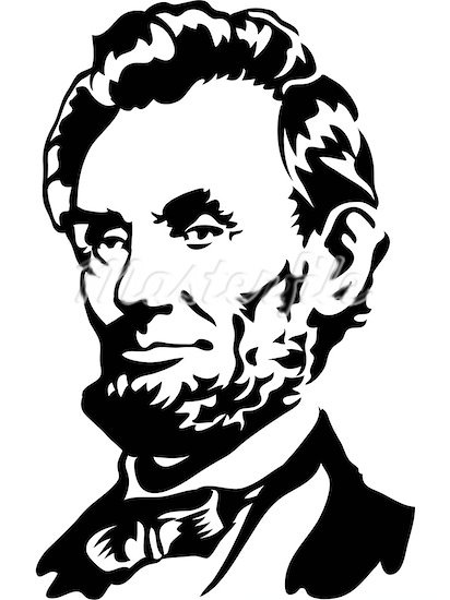 Lincoln Face Clipart inside Abraham Lincoln Clipart Black.