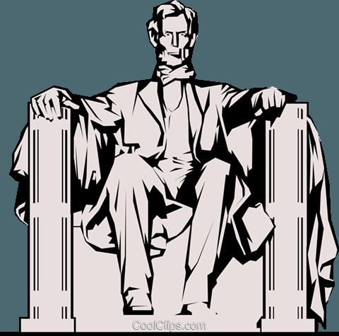 Lincoln Memorial Royalty Free Vector Clip Art illustration.