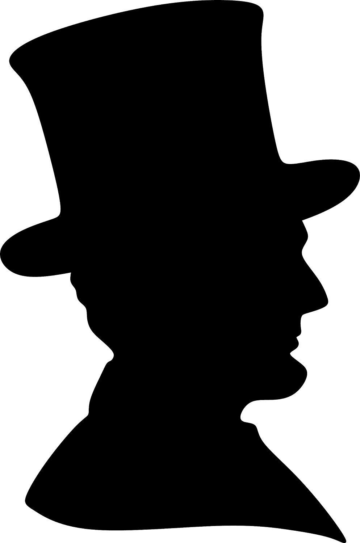 Amazon.com: ANGDEST Abraham Lincoln Silhouette (Black) (Set of 2.