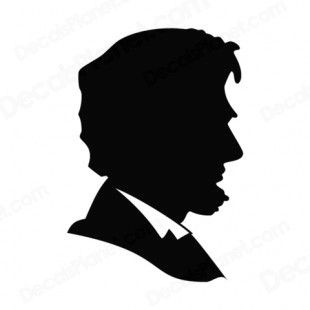 United States Abraham Lincoln silhouette listed in symbols and.