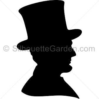 Abraham Lincoln Silhouette.