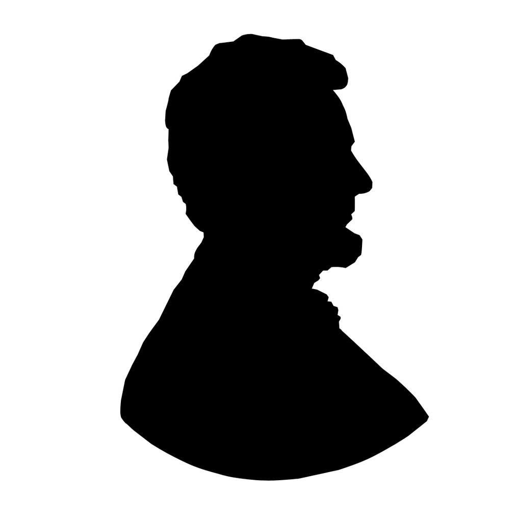 Abraham Lincoln Silhouette Clip Art N7 free image.