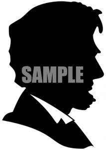 Clipart of Abraham Lincoln Silhouette.
