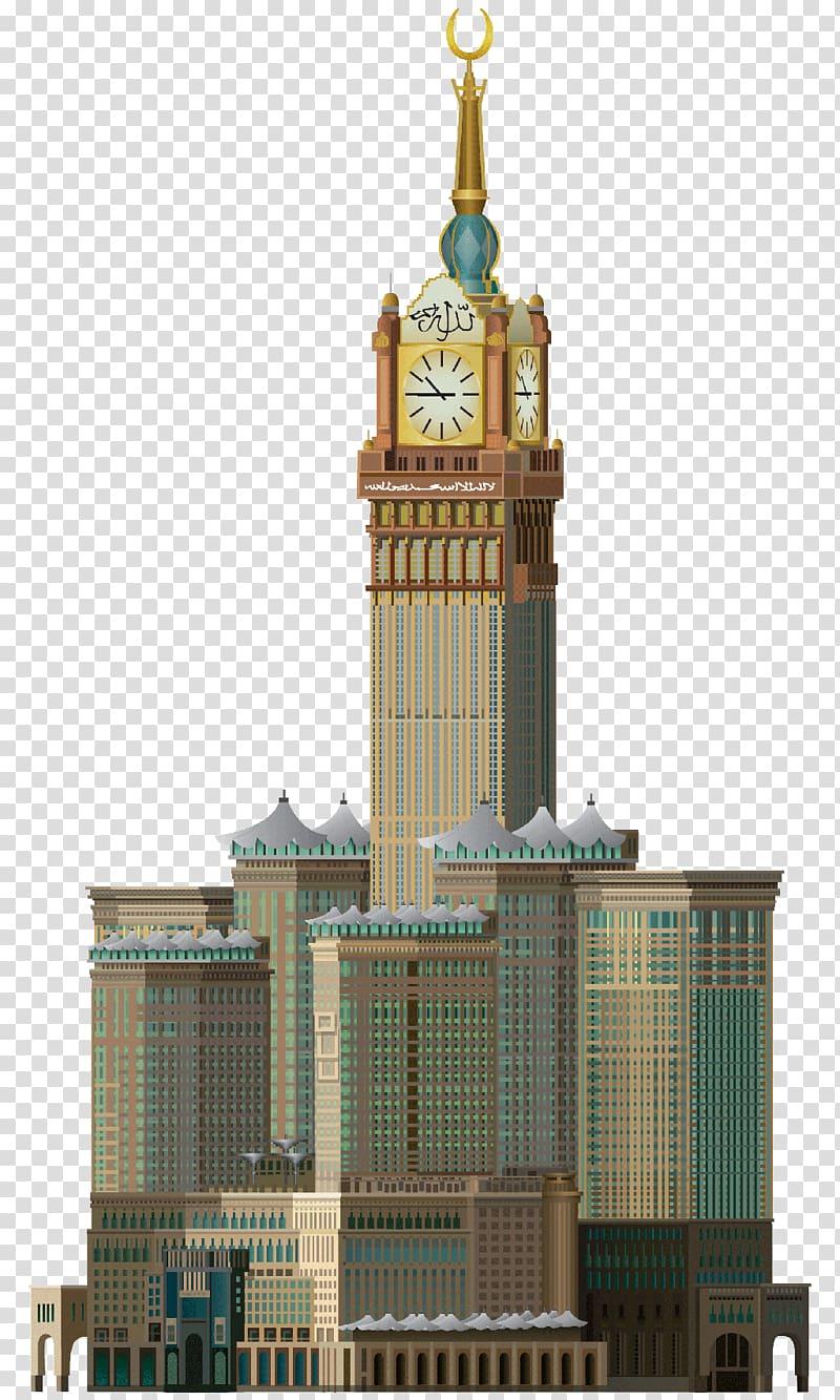 Brown building , Abraj Al Bait Makkah Royal Clock Tower.