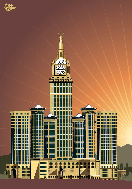 Abraj Al Bait Vector Art & Graphics.