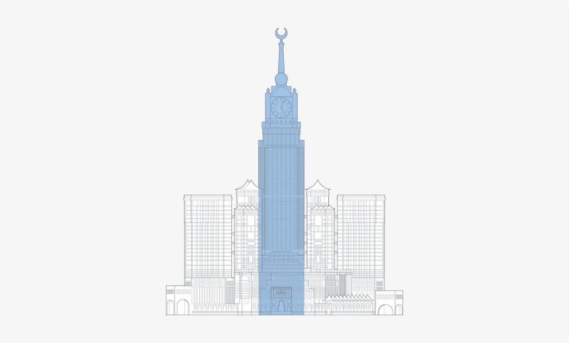 Makkah Royal Clock Tower Outline.