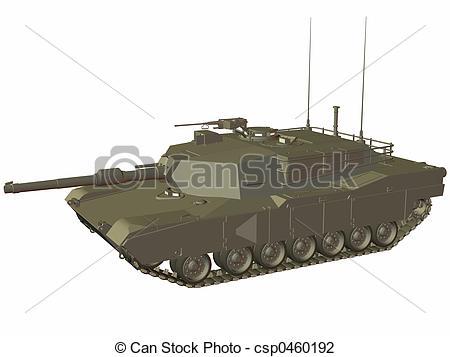 Clip Art of M1 Abrams.