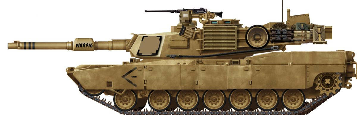 M1 Abrams Main Battle Tank.