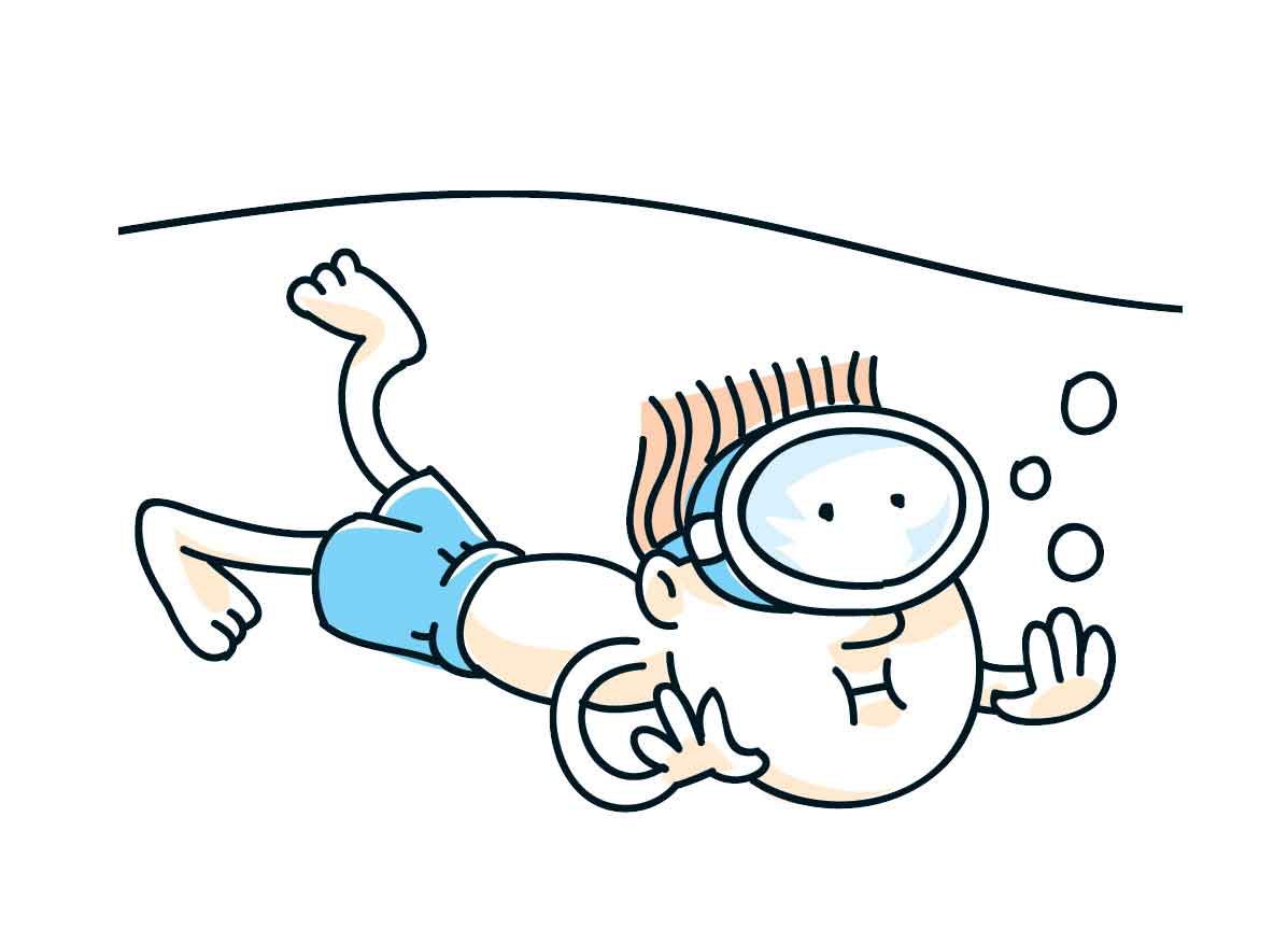 Swimming Cartoons.