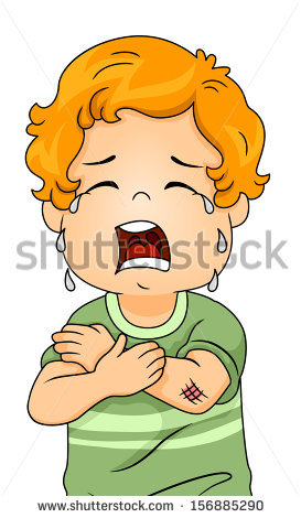 Illustration Boy Crying Out Loud Because Stock Vector 156885290.