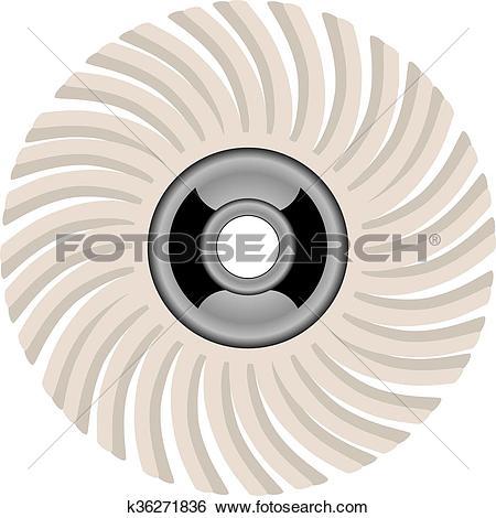 Clip Art of Abrasive Brush k36271836.