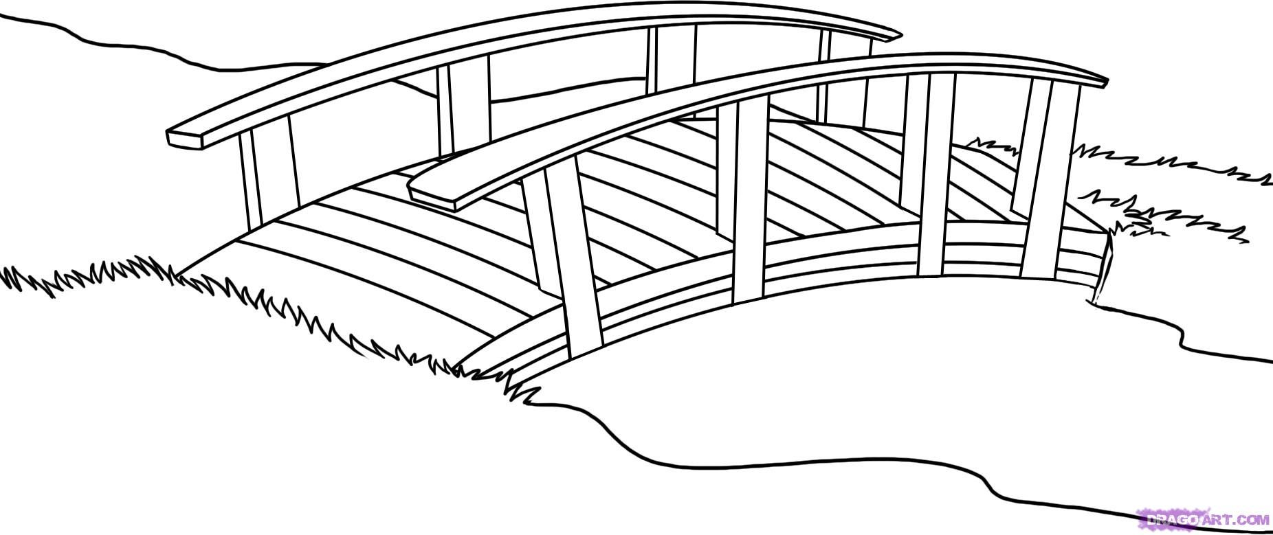 japanese garden coloring page.