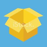 Vector Abrió Caja Icono vectores en stock.