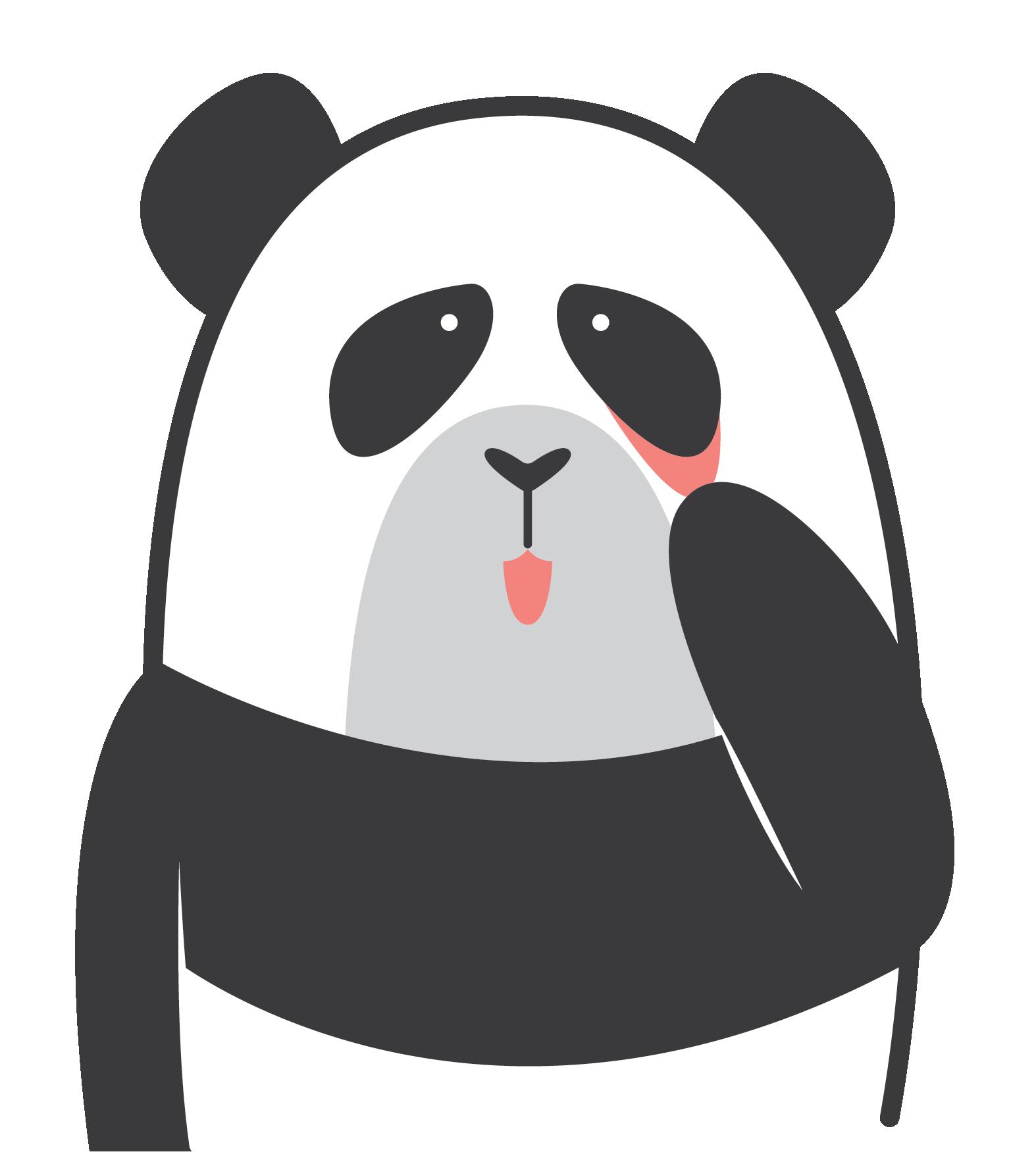 Panda clipart abrupt, Panda abrupt Transparent FREE for.