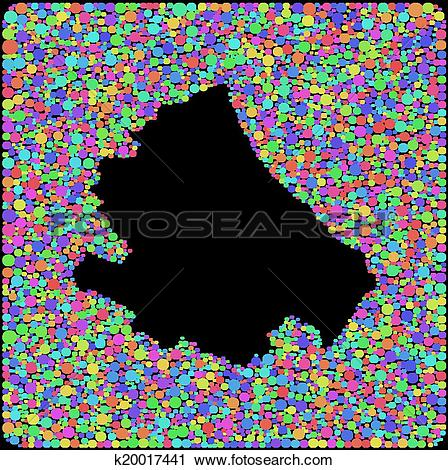Clipart of Map of Abruzzo (Italy) k20017441.
