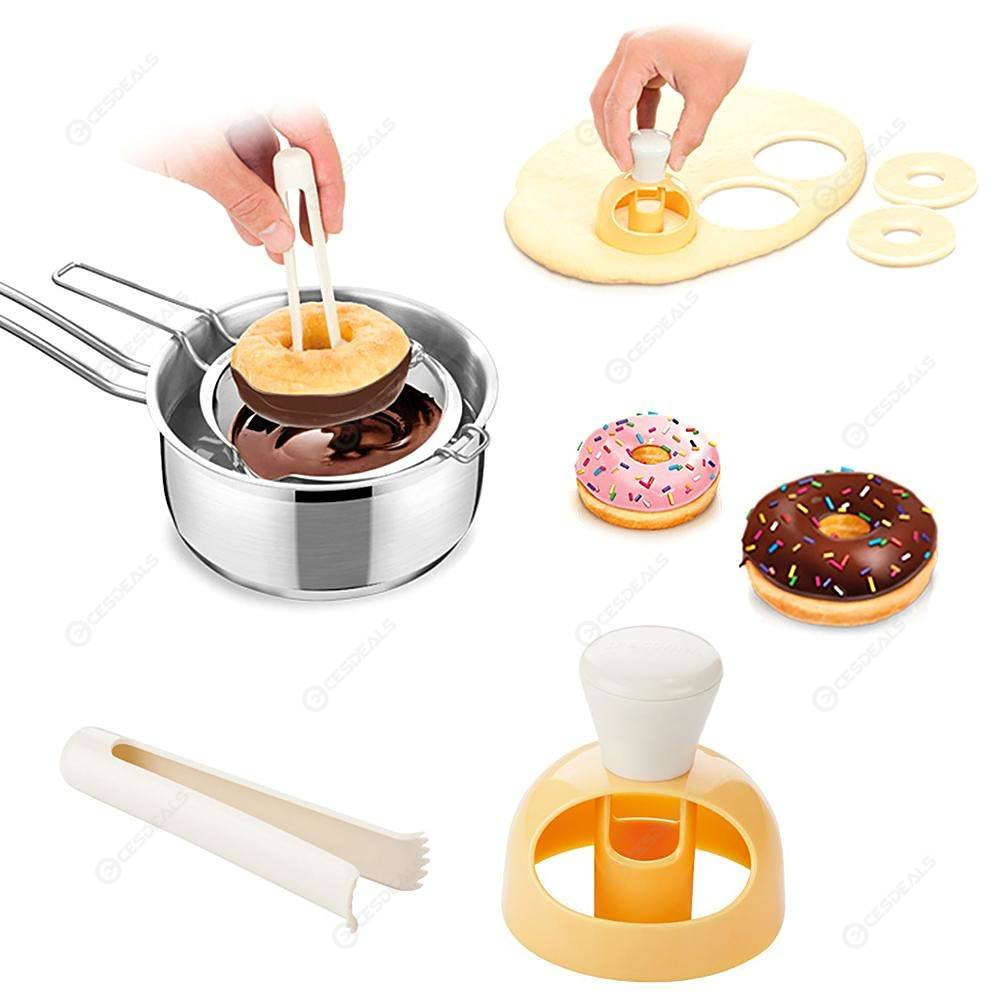 2pcs Donut Mold Food Grade ABS Cake Mould Baking Dessert Decorating Tools.