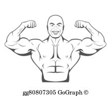 Perfect Abs Clip Art.
