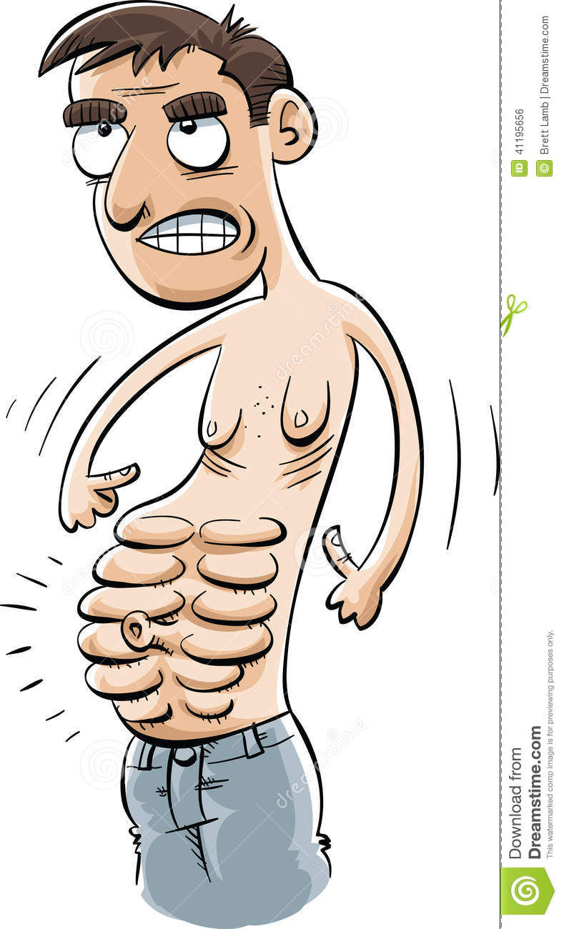 Extreme Abs Stock Illustration.