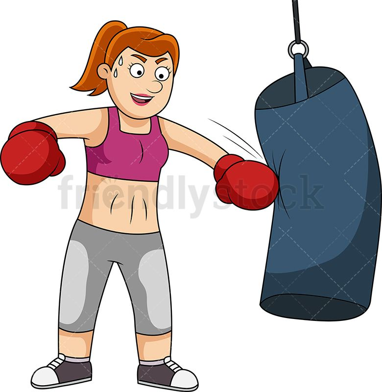 Fit Woman Training With Heavy Bag in 2019.