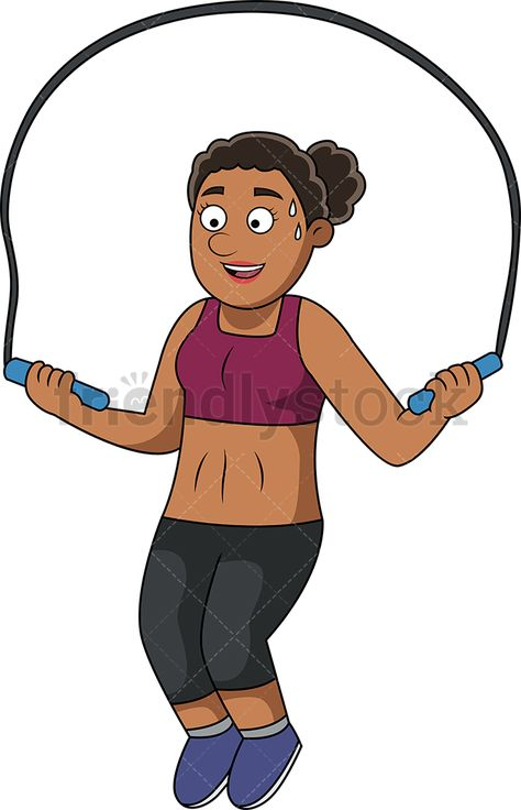 Fit Woman Working Out With Jump Rope in 2019.