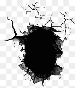 Broken Hole, Hole, Damage, Crack PNG Transparent Image and Clipart.