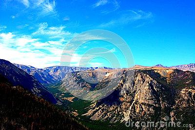 Beauty Of Montana State Absaroka Range Mountains Stock Photo.